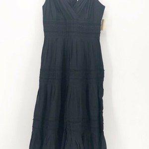 Coldwater Creek Womens Tuck Detail Dress Black S/6